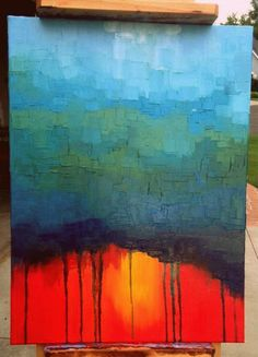 Abstract Sunset by CreationsByKelseyM on Etsy https://www.etsy.com/listing/252699200/abstract-sunset