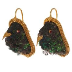 Image result for antique Victorian bird earrings