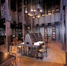 The Glasgow School of Art has the Charles Rennie Macintosh Library in Scotland