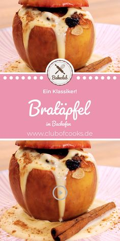 Bratäpfel (im Backofen) Baked apples are simply the dessert for Christmas and winter, and they make neat things and are not that difficult to prepare. Doro shows you how it works! Make this simple. Mini Desserts, Christmas Desserts, Winter Desserts, Easy Cookie Recipes, Dessert Recipes, Fall Recipes, Sweet Recipes, Cakes That Look Like Food, Dessert Halloween