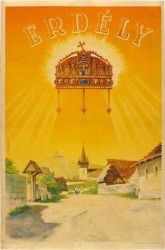 Erdély revíziós propaganda plakát Illustrations And Posters, Taj Mahal, History, Fun, Travel, Painting, Romania, Tourism, Fin Fun