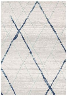 Arlo Blue & Bone Ivory Durable Rug - - Best Price on Best Selling Rugs - Onceit Trendy Colors, Vivid Colors, Turquoise Rug, Cheap Rugs, Polypropylene Rugs, Transitional Rugs, Neutral Palette, White Rug, Grey Rugs