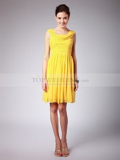 Chiffon Bridesmaid Dress with Removable Floral Satin Belt 0114610