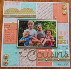 Year Noted National Papercrafting Month Cousins Family Scrapbook Layout #ctmh #scraptabulousdesigns
