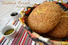 sesame bread from @Chef in Disguise