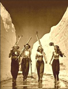 Alpine History use this vintage photo to encourage you to join your friends and explore the great outdoors this winter, have new experiences ,have fun, get fit ,trim and healthy, be Scandinavian enjoy nature, ski, hike, sled, skate or just stroll through the winter wonderland candy learn that active fun is not just a summer pursuit, tips 2017
