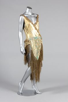 A beaded cloth of gold dance/cabaret outfit, 1920s