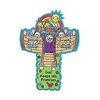 Color Your Own Noah's Ark Crosses - 48/5053