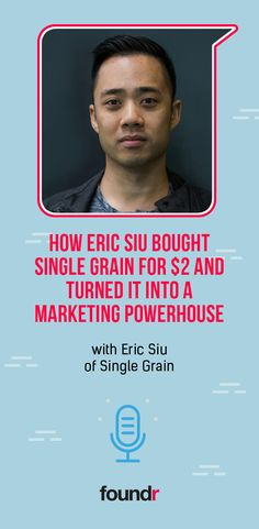 Listen in as we interview Single Grain CEO Eric Siu on how he bought out his company for just two bucks and turned it into a digital marketing powerhouse. Promote Your Business, Start Up Business, Starting A Business, Online Business, Foundr Magazine, Business Entrepreneur, Business Coaching, Career Goals, Templates Printable Free