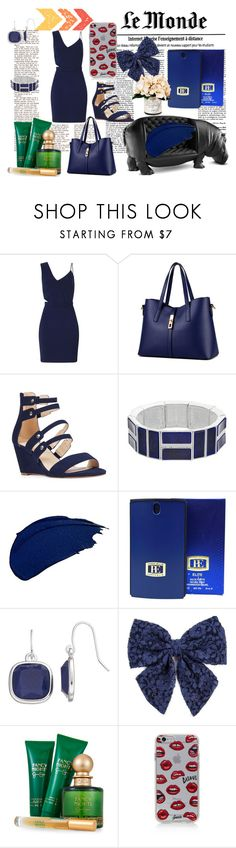 """Monochrome #61"" by quinn-avina ❤ liked on Polyvore featuring Miss Selfridge, WithChic, Nine West, Chaps, LASplash, Elite, Carole, Jessica Simpson, Sonix and Creative Displays"