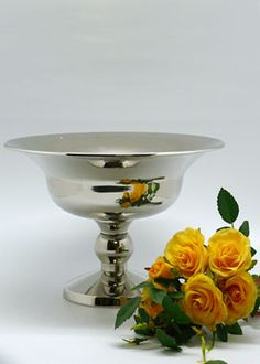 10in Nickel Plated Urn -- taller