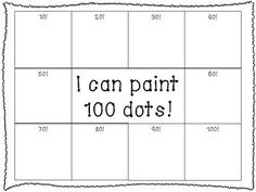 Super easy (and fun!) math activity for the day of school!We use q-tips to draw our 100 dots of paint and talk about how many groups of 10 we need to make School Organization Binder 100 Days Of School Centers, 100th Day Of School Crafts, Fun Math Activities, Physical Activities, 100s Day, Kindergarten Lessons, Kindergarten Centers, Counting To 100, 100 Day Celebration