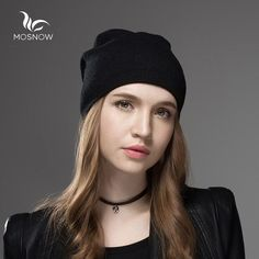 177a838cd54 Mosnow 2016 New Solid Wool Winter Hats For Women Asymmetrical Knitted Vogue  Brand Casual Warm Hat