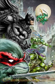 Batman TMNT Freddie E Williams 2