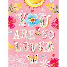 Oopsy Daisy Floral You Are So Loved Canvas Art