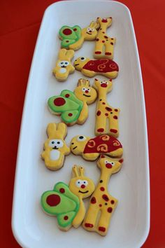 Baby TV Birthday Party cookies!  See more party planning ideas at CatchMyParty.com!