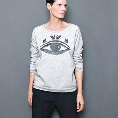 SALE  All Seeing Eye  Charcoal Metallic  Sweatshirt por sealmaiden