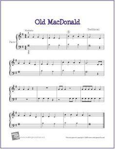Old MacDonald | Free Sheet Music for Piano