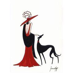 Lady in Red III by Dianne Heap @ Mini Gallery - Watercolour ...