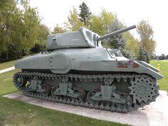Cruiser tank Ram II Early Production   Canadian Army WW II  at  Camp Borden, Ontario