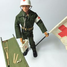 Vintage 1970s Palitoy Action Man Original Uniform Doll