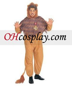 The Wizard of Oz Cowardly Lion Adult Costumes