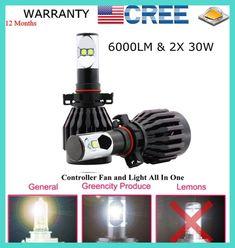 Kit Lampada Farol Super Led Cree Chips Alto/baixo Carro Moto H4 H7 9004 9007 H11 HB3 HB4 8000lm + Forte Que