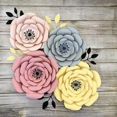 PDF Tiny Rose 3 Paper Flower 6 Different sizes Trace and   Etsy Large Paper Flowers, Paper Roses, Pink Paper, Flower Petal Template, Flower Tutorial, Papier Diy, Flower Center, Printable Paper, How To Make Paper