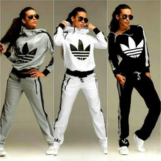 Shop sexy club dresses, jeans, shoes, bodysuits, skirts and more. Cute Swag Outfits, Sporty Outfits, Nike Outfits, Fashion Outfits, Jogging Style, Look Adidas, Adidas Tracksuit, Adidas Outfit, Sport Fashion