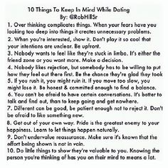 10 Things to Keep In Mind While Dating