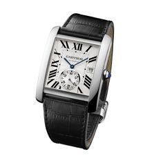 Tank MC watch - Automatic, steel, leather - Fine Timepieces for men - Cartier