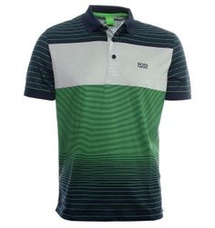 BOSS Green Polo Shirts. Hugo Boss Paddy 3 Navy & Green Polo Shirt