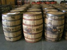 I knew about this site before I ordered a side table- Kentucky Barrels.Wish I knew about this site before I ordered a side table- Kentucky Barrels. Barrel Projects, Wood Projects, Woodworking Projects, Sewing Projects, Whiskey Barrels For Sale, Whiskey Barrel Bar, Whiskey Barrel Planter, Rustic Outdoor, Rustic Decor