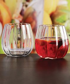 Another great find on #zulily! Pumpkin Stemless Wine Glass - Set of Four by Circle Glass #zulilyfinds