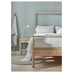 IKEA GJÖRA bed frame Adjustable bed sides allow you to use mattresses of different thicknesses. Ikea Bed Frames, Malm Bed Frame, Cama Ikea, High Bed Frame, King Size Bed Frame, Bed Frame With Storage, Under Bed Storage, Camas King Size, Diy Bett