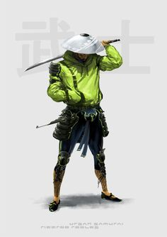 randomghost: Urban Samurai by Ricardo Robles