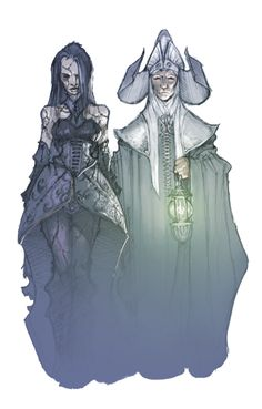 The Abbot, the oldest creature in Barovia, with his flesh golem bride.