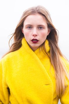 :: high neck yellow coat :: from www.nemesisbabe.dk