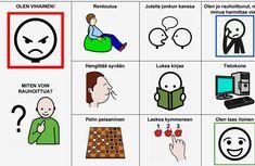 Erilaisia tapoja rentoutua ja helpottaa negatiivista tunnelatausta. Miten voin rauhoittua? Les Sentiments, Diy For Kids, Psychology, Teacher, Comics, Children, Toddlers, Professor, Boys
