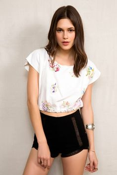 Urban Renewal Tablecloth Cropped Top