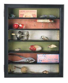 Fishing Memorabilia Shadow Box