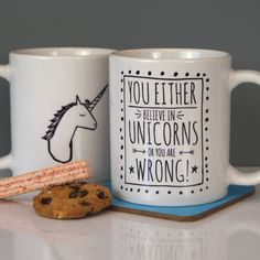 believe in unicorns! ceramic mug by parkins interiors | notonthehighstreet.com