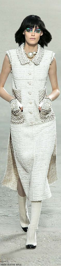 Paris FW Chanel S/S 2014 RTW | ♥ this! would wear different shoes & no necklace - so beautiful