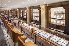 Anand Jewels – Top Interior Design Firms in Delhi Jewelry Store Displays, Jewellery Shop Design, Bijoux Design, Jewellery Showroom, Jewelry Shop, Luxury Jewelry, Jewelry Tree, Dainty Jewelry, Heart Jewelry