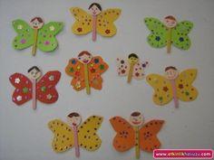 popsicle stick butterfly craft idea