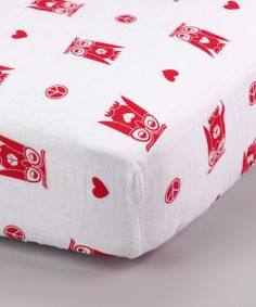 Take a look at this Red Peace & Love Organic Muslin Crib Sheet on zulily today!