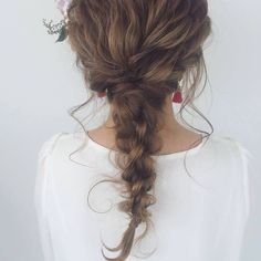 Different Hair Colors, Hair Arrange, Braids For Long Hair, Wedding Updo, Bride Hairstyles, Makeup Inspiration, Curls, Hair Makeup, Hair Beauty