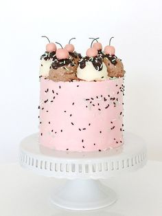 Just about the cutest ice cream cake ever!