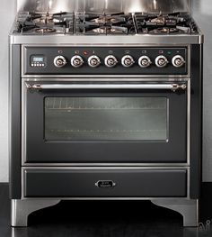 """Ilve UM906MP 36"""" Freestanding Dual Fuel Range with 6 Sealed Burners, 3.55 cu. ft. Capacity, Convection Oven, Manual Clean, Rotisserie System..."""