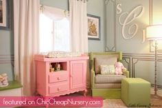 Really loving Laila Ali's nursery #celebrity #baby #decor